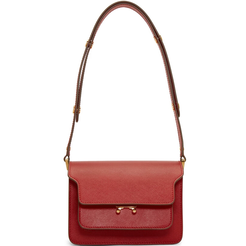 Marni Red Small Trunk Shoulder Bag 小款红色风琴包