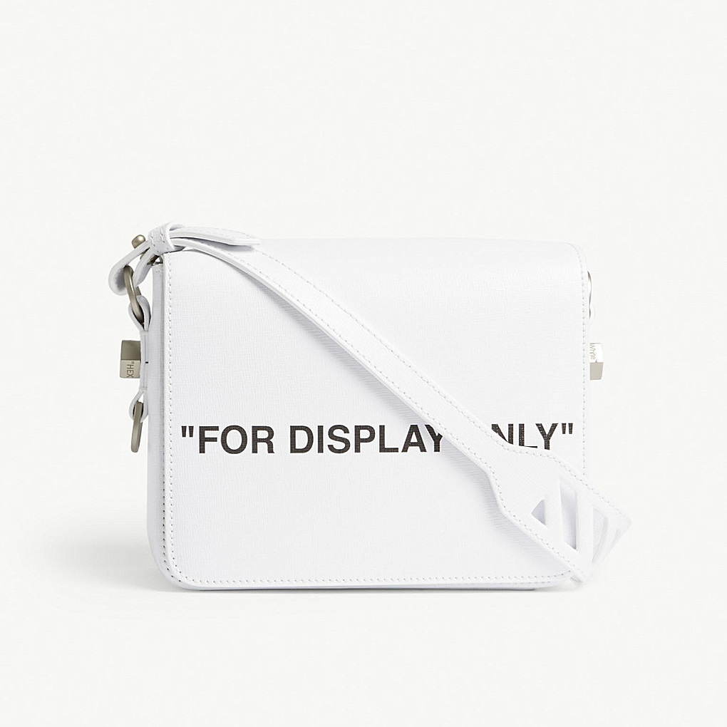 "OFF-WHITE ""FOR DISPLAY ONLU"" 解构风格斜挎包"