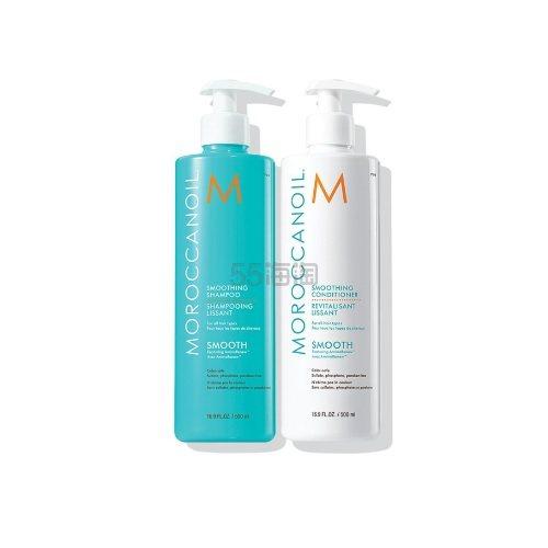 【无门槛3澳+免邮中国】Moroccanoil 摩洛哥油 加倍顺滑洗发水护发素套装 500ml*2瓶
