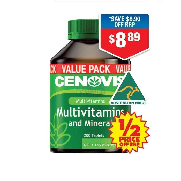 【立减5澳+5折】Cenovis 复合维生素&矿物质营养片 200片