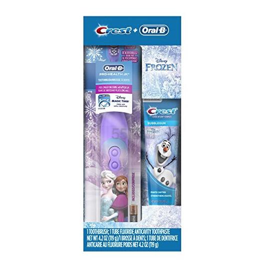 【中亚Prime会员】Oral-B 欧乐B 冰雪奇缘儿童电动牙刷+牙膏套装 到手价81元 - 海淘优惠海淘折扣|55海淘网