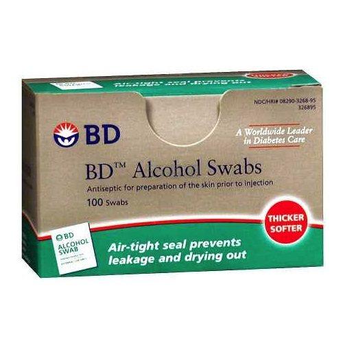 BD 一次性多用途酒精消毒棉片 100片 .79(约19元) - 海淘优惠海淘折扣|55海淘网
