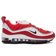 Nike White & Red Air Max 98 Sneakers 女款运动鞋