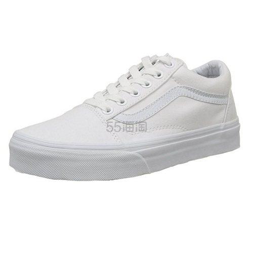 【中亚Prime会员】Vans 范斯 Unisex Old Skool 系列 男女帆布低帮板鞋/小白鞋