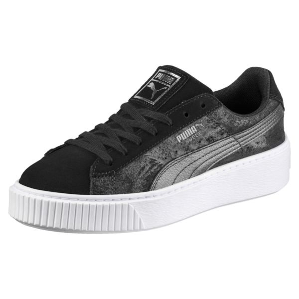 Puma 彪马 Suede Platform Metallic Safari 女士运动鞋