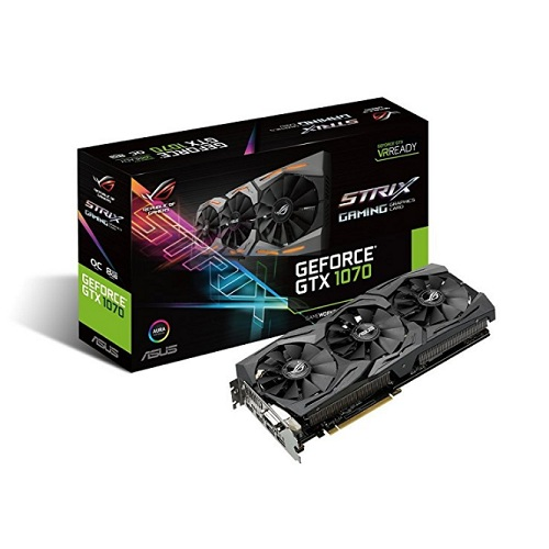 【中亚Prime会员】ASUS 华硕 GeForce GTX 1070 8GB ROG STRIX OC 游戏显卡