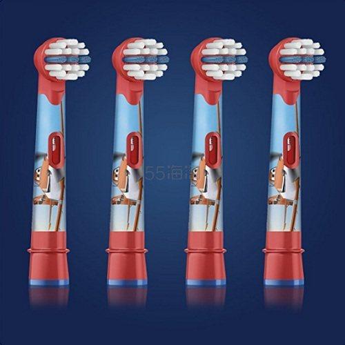 【中亚Prime会员】Oral-B 欧乐B Stages Power 儿童电动牙刷替换刷头 4只装 汽车总动员款