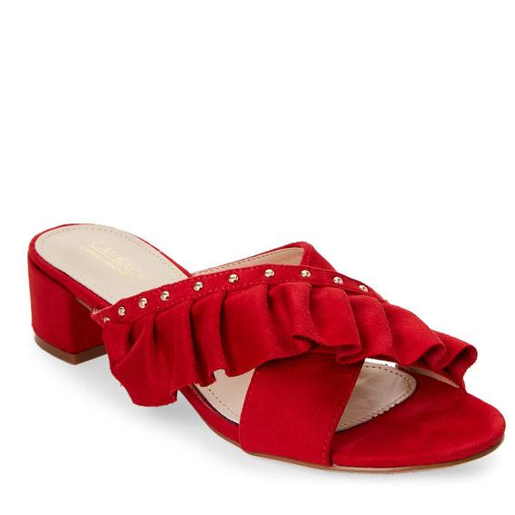 CATHERINE CATHERINE MALANDRINO Red Open Toe Azaria Sandals 红色凉鞋