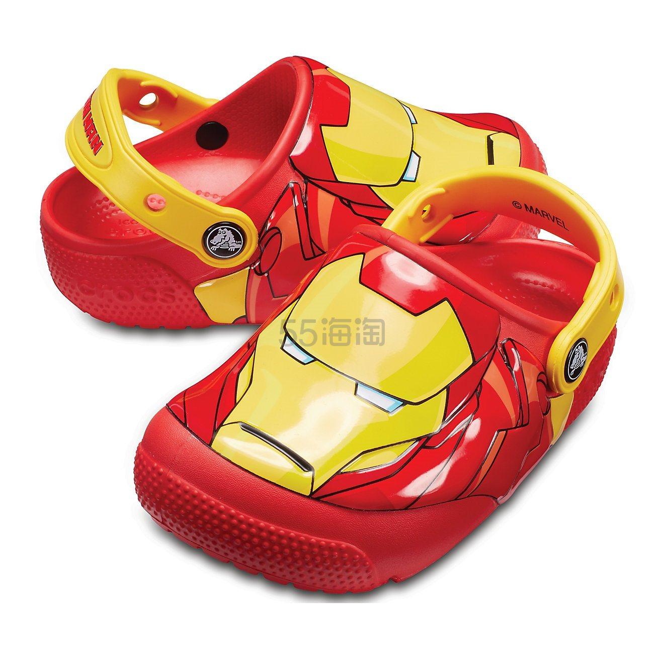 【中亚Prime会员】Crocs 卡洛驰 钢铁侠儿童发光洞洞鞋