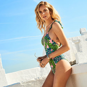 宇博 CHIARA FERRAGNI 爱穿的 Calzedonia S.p.A. ELLEN TROPICAL-FOLIAGE SWIMSUIT 热带风情泳衣