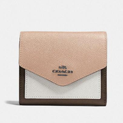 Coach Small Wallet In Colorblock 小款真皮拼色钱包