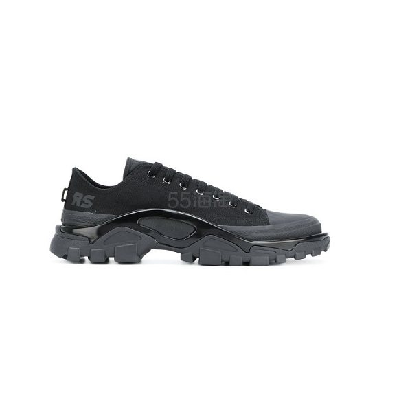 ADIDAS BY RAF SIMONS LEATHER SNEAKERS 阿迪达斯 黑色 女士 运动鞋 5(约1,692元) - 海淘优惠海淘折扣|55海淘网