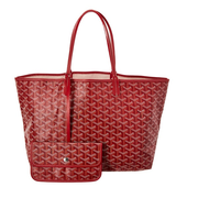 最后一只!GOYARD Goyardine Canvas Saint Louis Pm 红色 小号 托特包