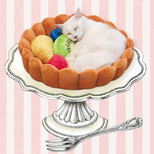【满额免邮】FELISSIMO 趣味水果猫咪小窝 6,580日元(约384元) - 海淘优惠海淘折扣|55海淘网