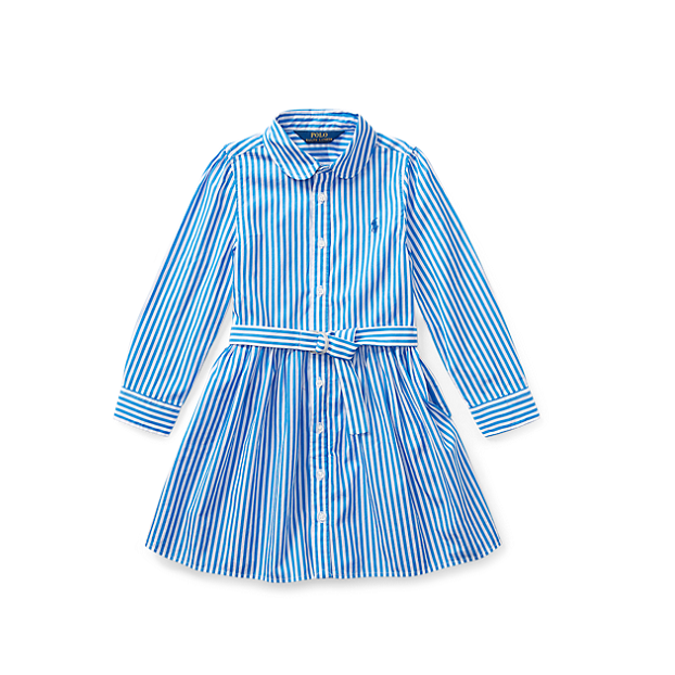 Ralph Lauren Striped Shirtdress 拉夫劳伦 女童 衬衫裙