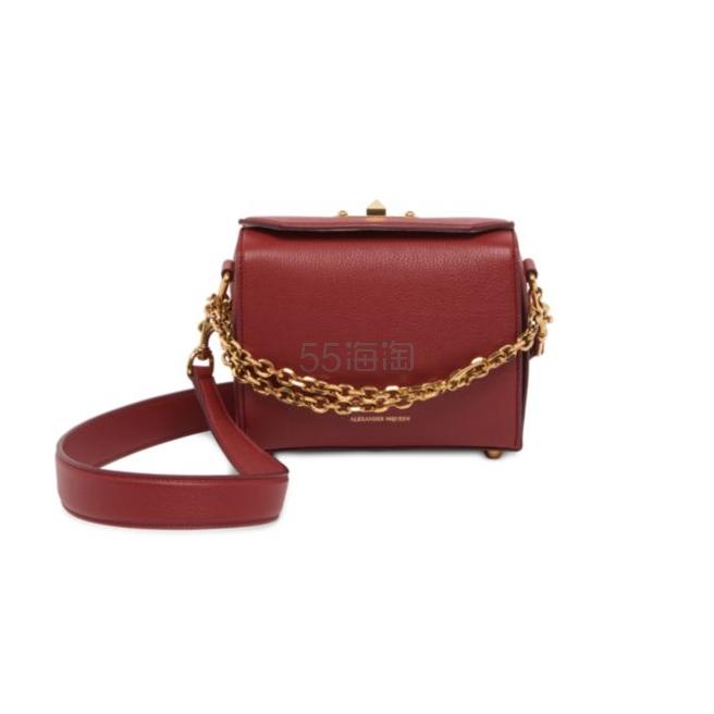Alexander McQueen Box Bag Grain Leather Satchel 19 红色 箱子包 ,194(约7,645元) - 海淘优惠海淘折扣|55海淘网