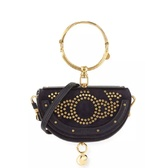 "Chloe Nile Small Studded Bracelet Minaudiere Bag 小号 黑色 手拎包 <b style=""color:#ff7e00"">$1,096(约7,013元)</b>"