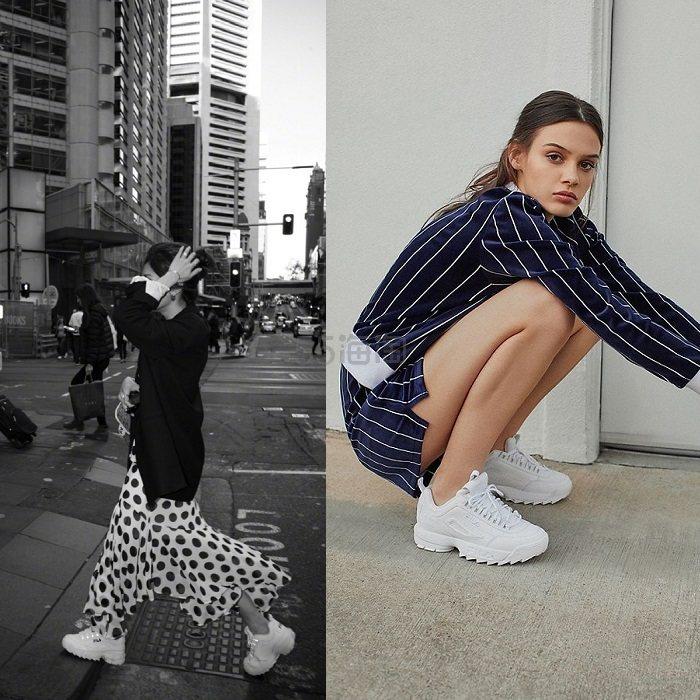 【Savislook 同款】FILA Disruptor II Sneaker 女士运动鞋 (约448元) - 海淘优惠海淘折扣 55海淘网