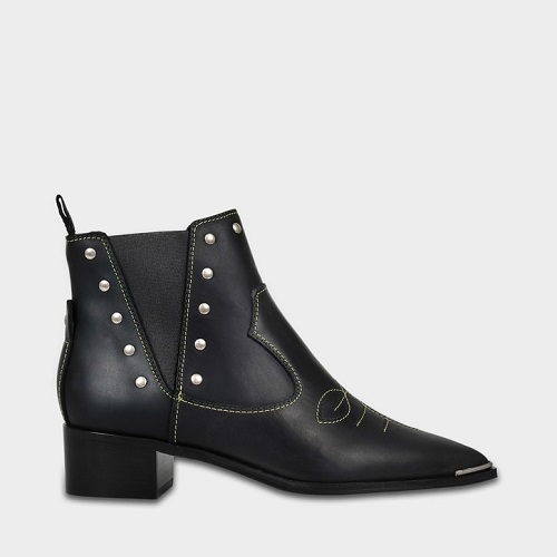 反季囤~Acne Studios JEXY ANKLE BOOTS IN BLACK CALF 黑色踝靴