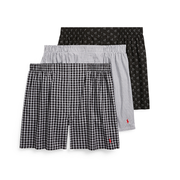 POLO RALPH LAUREN Woven Cotton Boxer 3-Pack 拉夫劳伦 男士内裤三件
