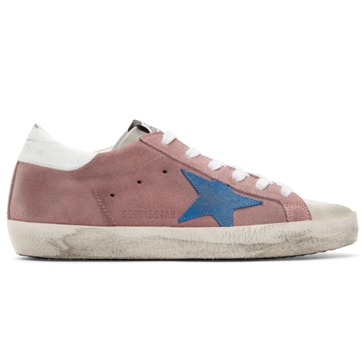 35码最后一双~Golden Goose Pink & White Superstar Sneakers 女款小脏鞋