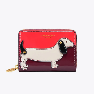 Tory Burch DACHSHUND ZIP COIN CASE 零钱包