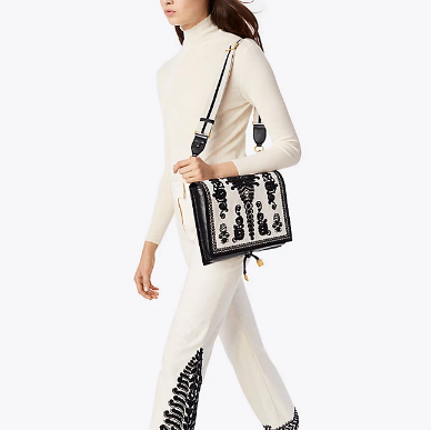 Tory Burch FARRAH EMBROIDERED 刺绣单肩包
