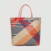 MANGO Braided shopper bag 彩色 编织 购物袋