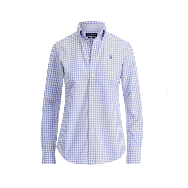 POLO RALPH LAUREN Slim Fit Gingham Poplin Shirt 拉夫劳伦 女士 衬衫