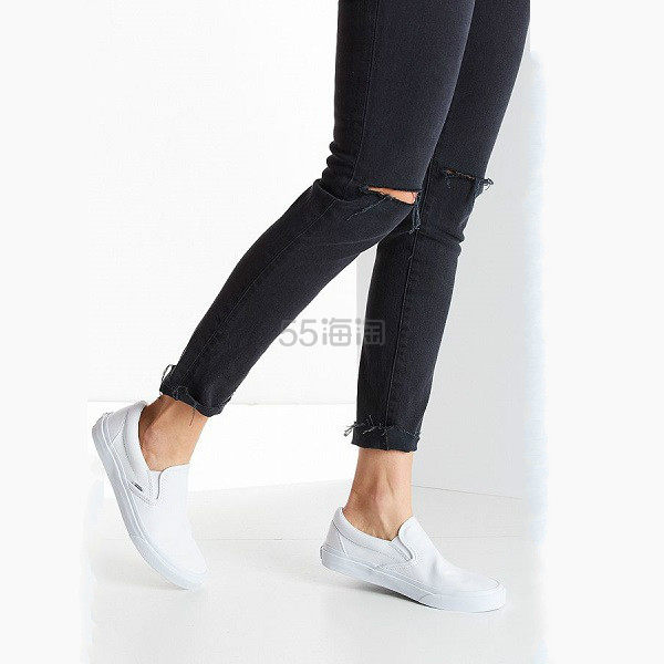 Vans Classic Slip-On Sneaker 白色 一脚蹬 运动鞋 (约330元) - 海淘优惠海淘折扣 55海淘网