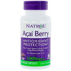 Natrol 终极超级水果 巴西莓素食胶囊 1000mg 75粒