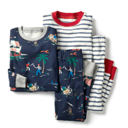 MINI BODEN 2-Pack Two-Piece Pajamas 两件装同款睡衣