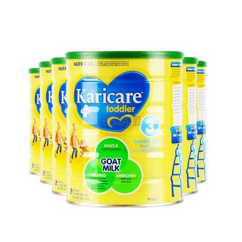 【包邮装】Karicare 可瑞康婴儿山羊奶粉 3段 900g*6罐 7(约1,372元) - 海淘优惠海淘折扣|55海淘网