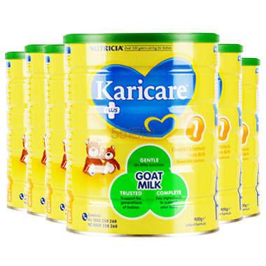 【包邮装】Karicare 可瑞康婴儿山羊奶粉 1段 900g*6罐 6(约1,168元) - 海淘优惠海淘折扣|55海淘网