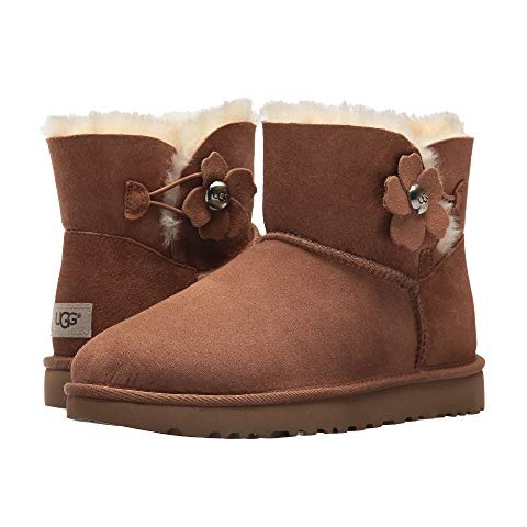 反季囤~UGG Mini Bailey Button Poppy 女士短款雪地靴