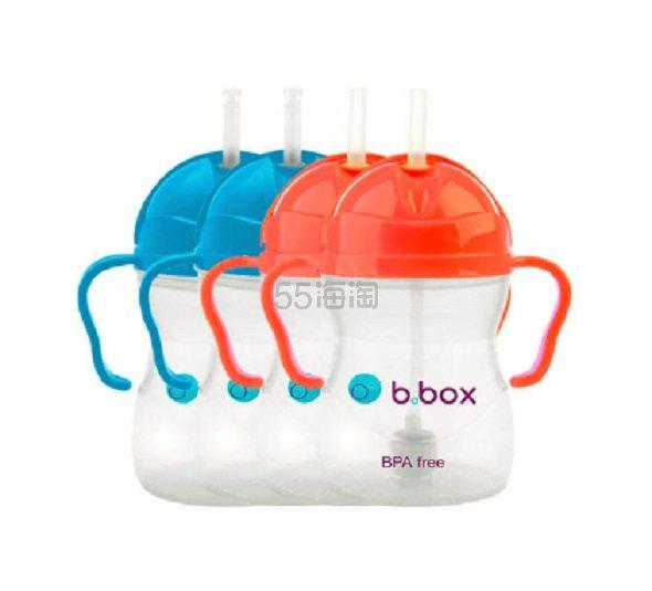 【直邮中国】B.box 婴幼儿重力球防漏吸管杯4个装 240ml 蓝色/红色 ¥259 - 海淘优惠海淘折扣|55海淘网