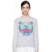 Kenzo Grey Embroidered Tiger Pullover 女款灰色卫衣