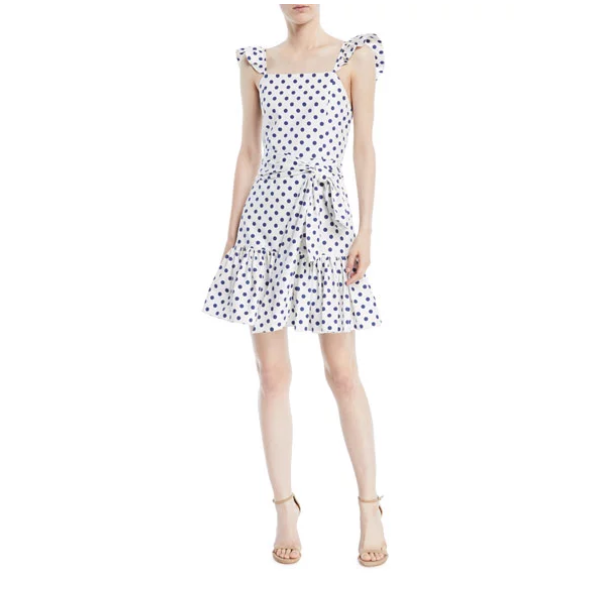 Alice + Olivia Polka-Dot Mini Dress 波点吊带裙