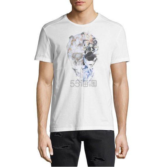 Alexander McQueen Floral Skull Graphic T-Shirt 麦昆 白色 男士 短袖 6(约1,384元) - 海淘优惠海淘折扣 55海淘网