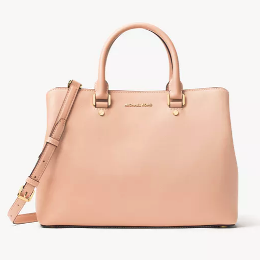 Michael Kors Savannah 系列 大号杀手包 淡粉色