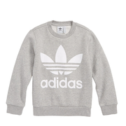 ADIDAS ORIGINALS  Logo Fleece 大童款灰色卫衣