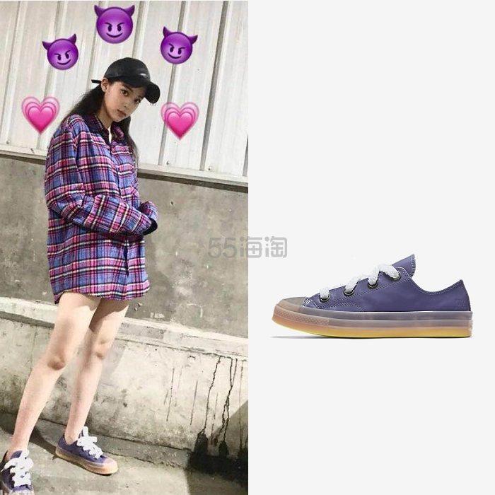 【欧阳娜娜同款】CONVERSE X JW ANDERSON 合作款 紫色 低帮 帆布鞋