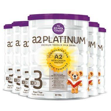【6罐包邮装】A2 白金系列 婴幼儿配方奶粉 3段 900g*6罐 7(约1,266元) - 海淘优惠海淘折扣|55海淘网