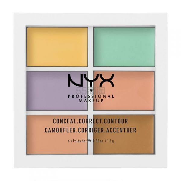 限时9折!NYX Professional Makeup 6色修容遮瑕盘 £9.45(约84元) - 海淘优惠海淘折扣|55海淘网