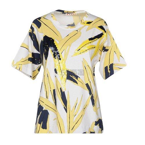 【优惠】MARNI 鹅黄色印花T恤 ¥836 - 海淘优惠海淘折扣|55海淘网