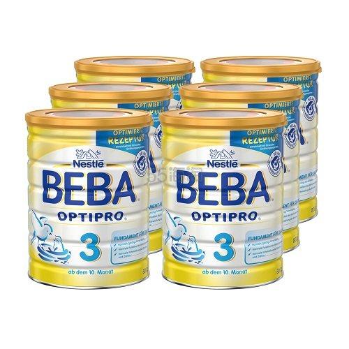 德国直邮!Beba 贝巴 Optipro 超级能恩婴幼儿奶粉 3段 800g*6罐 €83.65(约656元) - 海淘优惠海淘折扣|55海淘网