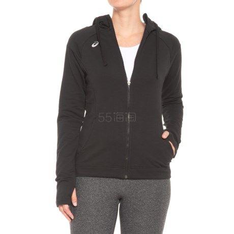 黑色石墨灰双色可选~ASICS 亚瑟士 女士连帽拉链开衫 .99(约116元) - 海淘优惠海淘折扣|55海淘网