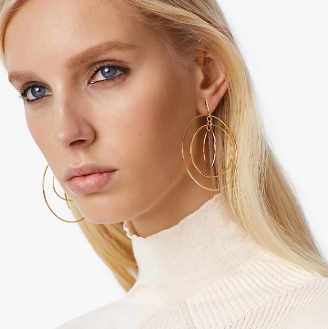 Tory Burch Wire Hoop earring 耳钉