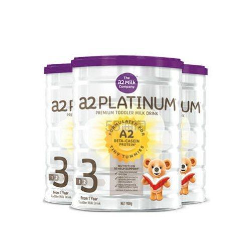 【3罐包邮装】A2 白金婴幼儿高端配方奶粉 3段 900g*3罐 (约609元) - 海淘优惠海淘折扣|55海淘网