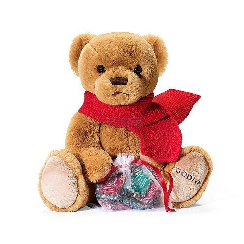 2018限量款!Godiva 歌帝梵 超可爱毛绒小熊+巧克力6颗 (约173元) - 海淘优惠海淘折扣 55海淘网